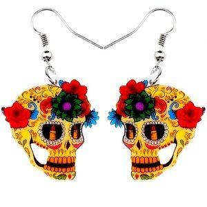 🌵4/$30 New Sugar Skull Dangle Earrings